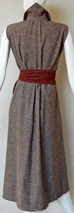 Claire McCardell - Robe - Tweed Brun - Années 40