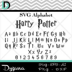 Harry Potter svg svg Alphabet lettres svg svg numéros