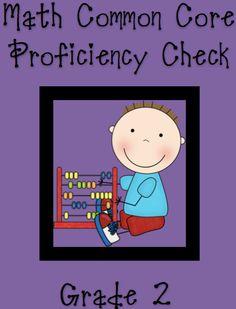 MATH Common Core-2nd grade Standards Checklist- Proficiency Documentation Sheets product from Elementary-Math-Teacher on TeachersNotebook.com