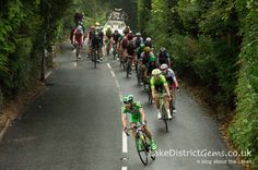 The Tour of Britain 2016 descending from Patterdale Road near Windermere