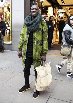 Men's London Street Style - December 2014 love the oversized jackets