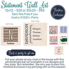 Thirty-One Hostess Exclusive Statement Wall Art