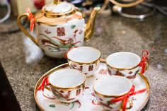 Mrs. Bacon's Chinese Wedding Tea Ceremony Tea Set | Photos by JordanQuinn Photography