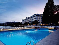 Villa D'Este -  Cernobbio CO, Italy. Perched at the edge of Italy's fabled Lake Como, Villa D'Este is sort of the king amongst kings when it comes to old-school Italian luxury. and the experience is as luxe as you would expect—between Venetian glass chandeliers, a pool that floats out onto the lake, and a state-of-the-art Turkish bath.