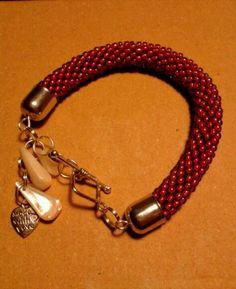 Sapphire TOHO bracelet