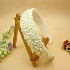 Stunning and Elegant Style Pearl Embellished Hair Band For Women