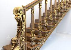 Резная лестница RLE-007 - Фото - Ставрос