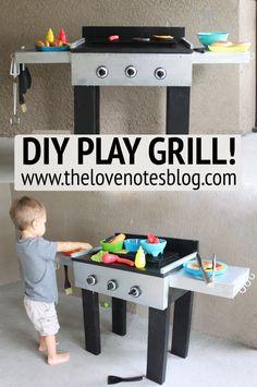 Diy Kitchen Toy For Kids Pretend Play 22 Ideas Diy Outdoor Toys, Outdoor Toys For Toddlers, Outdoor Play, Toddler Fun, Toddler Toys, Diy Kid Toys, Diy Crafts For School, Diy Karton, Diy Play Kitchen