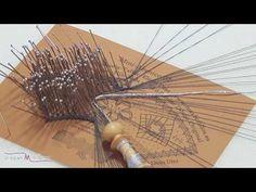 Poner y Rematar Reseguido (Modelo 1) - Tutorial de Encaje de Bolillos - Raquel M.Adsuar Bolillotuber - YouTube Needle Lace, Bobbin Lace, Lace Heart, Lace Jewelry, Hand Fan, Lace Detail, Tatting, Youtube, Embroidery