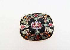 Cloisonné Enamel Butterfly and Flower Design by jewelbirdvintage