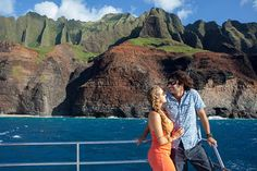 Na Pali Sunset Buffet Dinner Cruise 2019 - Kauai Kauai Tours, Beachfront Rentals, Napali Coast, Sailing Catamaran, Another Day In Paradise, Kauai Hawaii, Hawaii Vacation, Secluded Beach, Hidden Beach