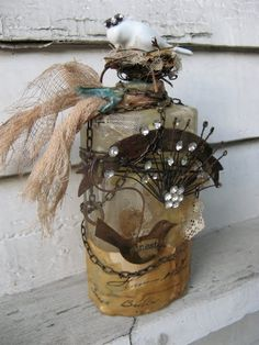 Robin's Classes at a Glance: Altered Art Bottles