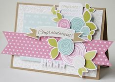 Bella Blvd Love & Marriage Collection. Congratulations wedding Card by DT member Gretchen McElveen