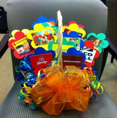 This Is A Gift Card Basket My Girls And I Made As Fundraiser For Friend Think We Did An Awesome Job