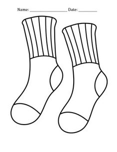 Coloring Page Sock Coloring Picture Sock Free Coloring