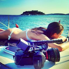 by blueroompro We never saw the FS700 In this kind of a combination... And we do mean the lens! ;) #fs700 #cne24mm #canon #cinelens #sea #sailsup #sailing #croatia #island #model #blueroompro
