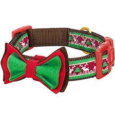 Blueberry Pet Christmas Santa Claus's Reindeer Holiday Season Dog Collar with Bow Tie, Neck 45cm-66cm, Large, Holiday Collars for Dogs: Amazon.co.uk: Pet Supplies