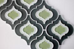 Arabesque backsplash tile