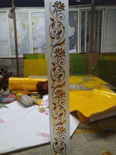 Steel Gate Design, Front Gate Design, Door Gate Design, Etched Glass Door, Frosted Glass Door, Etched Mirror, Balcony Glass Design, Window Glass Design, Glass Etching Designs