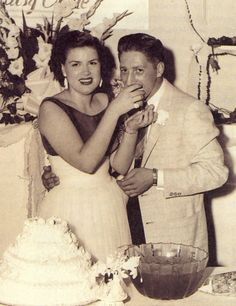 Patsy and Charlie at their wedding reception, Sept. 15, 1957