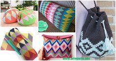Tapestry Crochet Free Patterns: Wayuu Mochila Crochet Bags, Purses, Pillows, Tips and Free Patterns