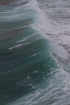 Ocean Wave, Vertical Photo, Minty Color, Photo Take in England