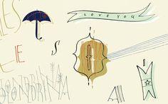 """ESTACIONES ILUSTRADAS"", motivo claro-detalle para la portada de la agenda perpetua MANCHA DE TINTA 2013."