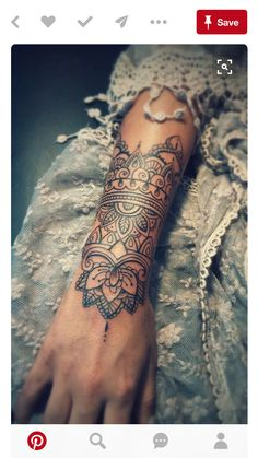 Mandala Hand Tattoos