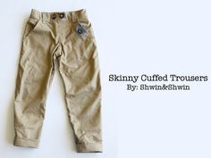 Shwin: Skinny Cuffed Trousers--great post with tutorials on welt pockets, several faux details and other hacks for this pattern