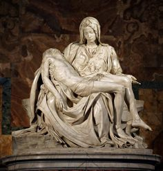 La Pieta (1498-1500) - Michelangelo - Basilique Saint-Pierre de Rome (Italie)