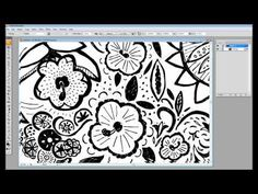How to Convert a Drawing to Vector {video tutorial by Barbra Ignatiev, using a scanner, Photoshop, and Illustrator}