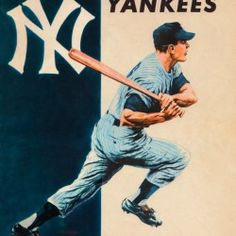 Baseball Posters, Baseball Art, Christmas Gifts For Sports Fans, Holiday Gifts, Man Cave Wall Art, New York Yankees Baseball, Cool Fathers Day Gifts, Sports Art, Good Good Father