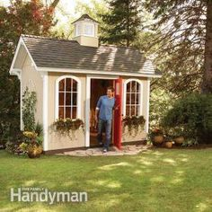 How to Build a Cheap Storage Shed- play house  http://www.familyhandyman.com/DIY-Projects/Outdoor-Projects/Backyard-Structures/Sheds/how-to-build-a-cheap-storage-shed/View-All