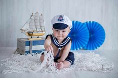 Top Baby Photography themes and ideas Photography Themes, Newborn Baby Photography, Newborn Photos, Children Photography, Monthly Baby Photos, Baby Boy Photos, Baby Pictures, Book Infantil, Sailor Baby
