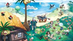 Alola Region Pokemon Pokemon Sun and Moon Wallpaper