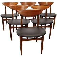 Mid-Century Danish Modern Warren Church Lane Perception Dining Chairs - Set of 6 Danish Modern, Mid-century Modern, Lane Furniture, Googie, Retro Home, Dining Chair Set, Perception, Chairs, Mid Century