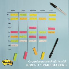 Use Post-it Page Markers to keep your schedule flexible and under control.