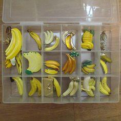 #979 Assorted Pastel Banana Cabochon Peeled Banana