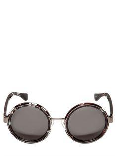 fe60230558d4 Linda Farrow X Dries Van Noten - Round frame sunglasses http   www.