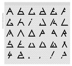 """A modular typeface design that I have created through a triangular grid system. Following a previous design, the typeface is called """"Triangle One"""".The photography is also my own work."""