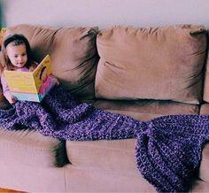 Adorable Little Ariel Mermaid Blanket Kids Mermaid Blanket