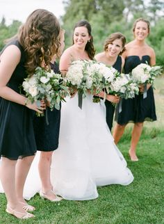 Photography : Connie Whitlock Photography | Bridesmaids Dresses : J.Crew | Floral Design : The Perfect Petal | Wedding Dress : Anne Barge Read More on SMP: http://www.stylemepretty.com/2016/01/19/elegant-traditional-scottish-wedding-in-colorado/