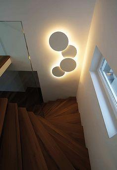 Vibia Wandleuchten Leuchte Puck Wall Art – Diy Home Contemporary Interior, Modern Interior Design, Modern Decor, Ceiling Design, Lamp Design, Interior Walls, Wall Art Designs, Cool Walls, Lamp Light