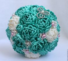 Beautifully made bouquet with silk flowers