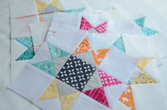 Hyacinth Quilt Designs: Ohio Star blocks | #quiltblock #stars