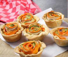 hartige taartjes met groenteroosjes van Saakje - Koopmans.com