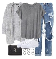 """""""Untitled #2411"""" by marianam97 ❤ liked on Polyvore featuring OneTeaspoon, MANGO, H&M, Yves Saint Laurent, adidas Originals and ASOS"""