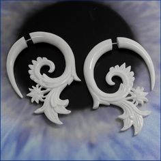 Organic Bone Fake Gauges. I love the white fake gages. They are very pretty