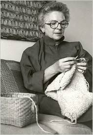 Mary Walker Phillips, a prominent textile artist who took the utilitarian craft of knitting and gave it bold new life as a modern art form