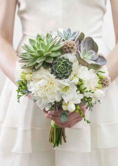 wedding bouquet  suculents